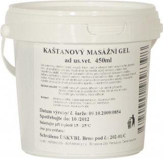gel kaštanový 450 ml K